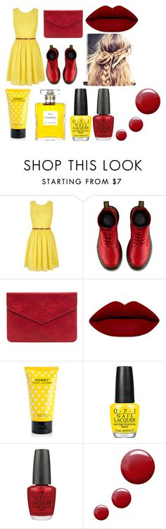 """REYO!"" by rsytsfn-xx on Polyvore featuring Yumi, Dr. Martens, Marc Jacobs, Chanel, OPI and Topshop"