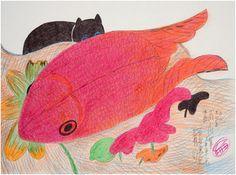 Jimmy Tsutomu Mirikitani: Drawings at Eight Modern, Santa Fe New Mexico. In association with Eight Modern's exhibition of Mirikitani's. Lots Of Cats, Japanese American, Watercolor Cat, Goldfish, Cat Art, Art History, Art Museum, Contemporary Art, Illustration Art