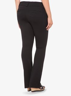 Noir Collection All-Nighter Pant - Slim Boot Trouser (Short), DEEP BLACK