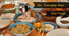 A large list of delicious Paleo Thanksgiving recipes!  Paleo Thanksgiving Dinner Recipe Roundup - Nearly Natural Momma