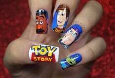 These 14 Incredible Cartoon-Themed Nail Art Photos Will Make You Want A Manicure Disney Acrylic Nails, Disney Nails, Cute Acrylic Nails, Cute Nail Art, Cute Nails, Pretty Nails, Disney Nail Designs, Cute Nail Designs, Toy Story Nails