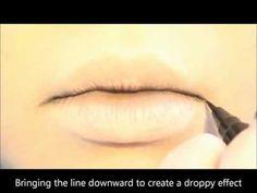 Tutorial : Anime Lips Makeup 2