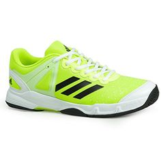 save off 02887 dc495 Adidas Court Stabil Junior Tennis Sho Perfect for your junior tennis player  Color  Neon Yellow Black Average Weight  oz.