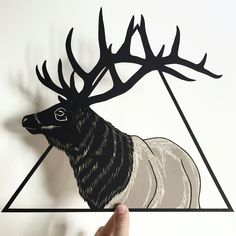 Stag papercut, papercutting, papercut art