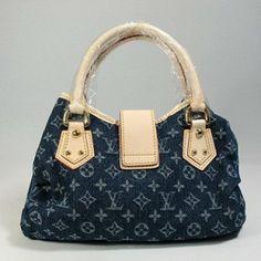 Classic Lv Denim Genuine Leather Handbags Dark Blue M95020 #Louis #Vuitton #Handbags #Dark Blue $301 ,~~~~(>_<)~~~~  THIS CHRISTMAS WILL OWN IT.. →❤♥……