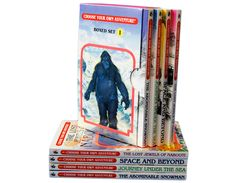 Choose Your Own Adventure - 4 Book Boxed Set #1 and over 7,500 other quality toys at Fat Brain Toys. Find the Abominable Snowman, travel to lost Atlantis, traverse distant sectors of the galaxy, and recover priceless jewels from the thief! All the outcomes are up to you. Four books lead to over 150 possible adventures!