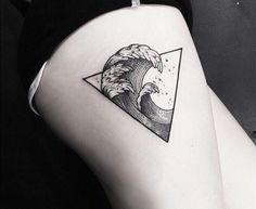 The big wave geometrical tattoo / Hokusai Kanagawa inspiration 2500th pin