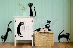 Cats are Everywhere - dd1026 Removable Graphic Wall Decal. $32.00, via Etsy.