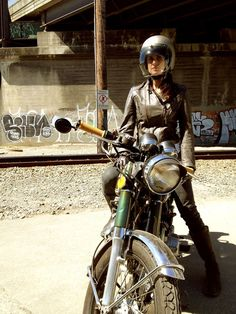 Submission (and photo) from Erik Hall- Amy Spassov got her license and a 1974 Honda CB350