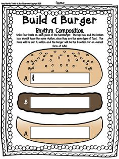 Treble in the Classroom: Build a Burger Composition Set