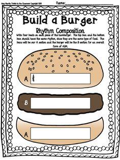 Build a Burger Composition Template Set