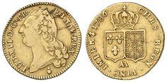 France, louis XVI., 1774-93, rolled gold louis d'or à la collaborated nu, 1786 aa, Metz, Fried. 474, Duplessy 1706, Gadoury 363.15. 14 g, very fine    Dealer  Auction house Ulrich Felzmann    Auction  Minimum Bid:  600.00EUR