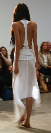 love this white dress with a super open back