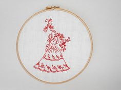 Handmade embroidery embroidery hoop art wall by RedWorkStitches, $30.00