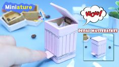 Miniature - How To Make Pedal wastebasket (DIY Dollhouse - Pedal wasteb...
