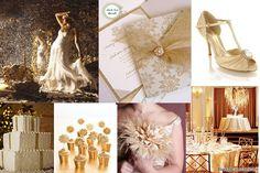 White Gold Wedding Ideas   Event Confetti: Inspiration Board: Winter Gold Wedding