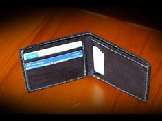 How to Make a Basic Leather Wallet - YouTube TUTORIAL