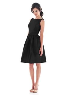 Alfred Sung Style D488 http://www.dessy.com/dresses/bridesmaid/d488/?color=black&colorid=123#.UkLe7NI3tc0 love this. classic look.