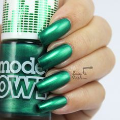 Models Own Disco Pants Collection - Review & Swatches. Models Own: ☆ Paradise Garage ☆ ... a light EMERALD GREEN shimmer nail polish.