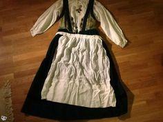 Skånsk folkdräkt Skytts härad - fin förkläde