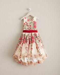 Girls Disney Princess Belle Embroidered Roses Dress
