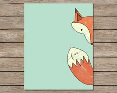 Items similar to Fox Printable - INSTANT DOWNLOAD Printable - fox ...