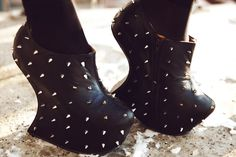 Spiked. Shoes. Please.