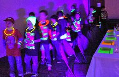 This blog has tons of fun games for a #neon #glow #party!