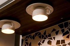 coffee cup and saucer lighting