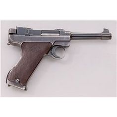 1st Variation Lahti L-35 Semi-Automatic Pistol, #2245, 9mm, 4.7'' barrel, blue finish, brown checkered plastic grips with VKT logo, cut for shoulder stock, with rounded Loaded Chamber indicator; early narrow upper receiver marked ''VKT/L-35''; rear portion raised area with forward protrusion for locking block spring (omitted from later models); with etched letter ''E'' to righLoading that magazine is a pain! Get your Magazine speedloader today! http://www.amazon.com/shops/raeind