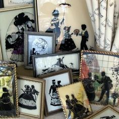 Love vintage silhouettes on glass like this.