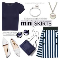 """""""Mini Me: Cute Skirts"""" by littlehjewelry ❤ liked on Polyvore featuring Dolce&Gabbana, WearAll, Rupert Sanderson, 3.1 Phillip Lim, MINISKIRT, contestentry, pearljewelry and littlehjewelry"""
