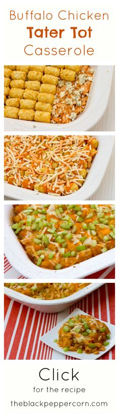 Buffalo Chicken Tater Tot Casserole...SHUT THE FRONT DOOR!!