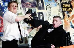 Jamie Parker with Russell Tovey in The HIstory Boys at the National in 2004.