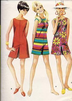 Teen & Junior Culotte Romper  Dress 1960's were also very groovy! I made myself one in 8th grade home economics class which I wore for several years.