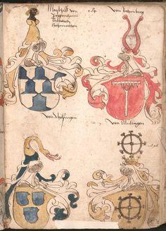 Wernigeroder (Schaffhausensches) Wappenbuch Süddeutschland, 4. Viertel 15. Jh. Cod.icon. 308 n  Folio 184r