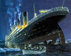 The final moments of the Titanic by Ken Marschall.  © Ken Marschall