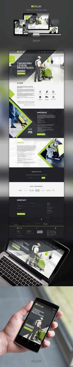 CleanWay: responsive landing page design on my Behance portfolio: https://www.behance.net/gallery/36511491/CleanWay-responsive-landing-page-design