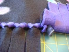 No Knot, No Sew Blanket. I like this SO much better than the knotted ones!!! It does take longer, but it looks SO much better, and you don't have the hard knots. @ DIY Home Ideas