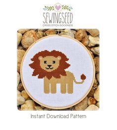 Lion Cross Stitch Pattern