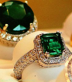 Note to my beloved: When in fact you want to pop the question. lol! I want an old Antique emerald ring..... Total would go with my red hair.