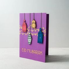 Kaghuz handmade and customized products Diy Eid Cards, Diy Eid Gifts, Ramadan Cards, Eid Mubarak Greeting Cards, Eid Greetings, Ramadan Gifts, Birthday Card Drawing, Birthday Card Design, Eid Envelopes