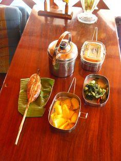 Lunch box or tiffin tin