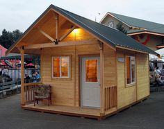 The Shed Option: Things to consider in starting with a shed. An alternative to building your own tiny house is to start with an unfinished pre-built shed shell. You may have seen buildings like these lined-up along side the highway in your community, outs Shed To Tiny House, Tiny House Plans, Home Depot Tiny House, Shed Design, Tiny House Design, Patio Roof Covers, Modern Wooden House, Wooden Houses, Small Sheds
