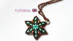 [ENG] PDF Beaded Autumn Star pendant  - via @Craftsy