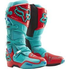 Fox 2016 Instinct LE Aqua/Red Boots
