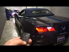 ▶ 2014 Chevrolet Corvette Stingray Convertible how to put the top down using smart key - YouTube