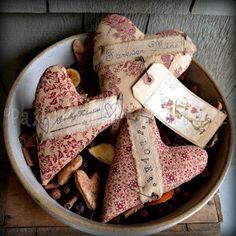 Paxton Valley Folk Art Shop: Valentine Heart Bowl Fillers ~ #BF036 ~ Original Paxton Valley Folk Art Design