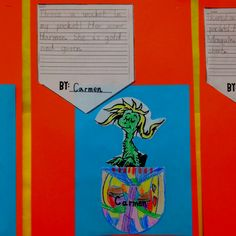 Read There's a Wocket in my Pocket by Dr. Seuss. Student's can name their own Wocket by changing the first sound in their name. Then have them describe their Wocket.