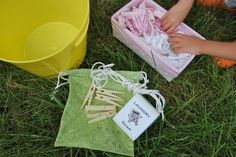 DIY Pretend Laundry Kit -- pretend play and life skills lesson in one.